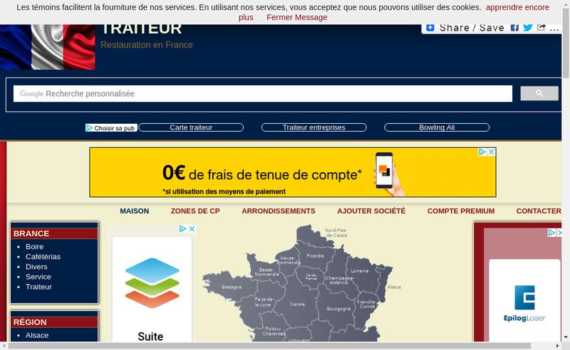 Capture d'écran du site de SARL Clausel Traiteur