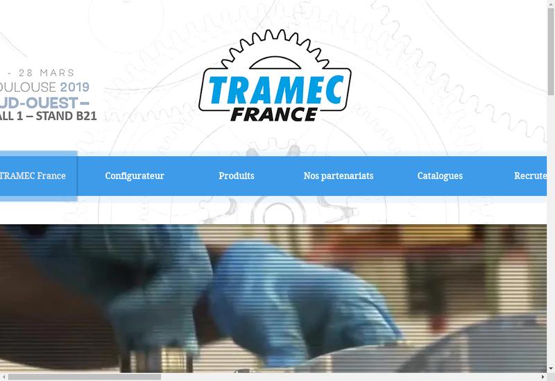 Capture d'écran du site de Tramec France