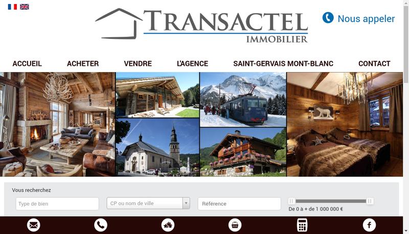 Capture d'écran du site de Transactel