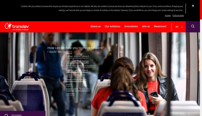 Capture d'écran du site de Connex Ligeria