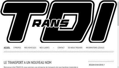 Site internet de Trans Di