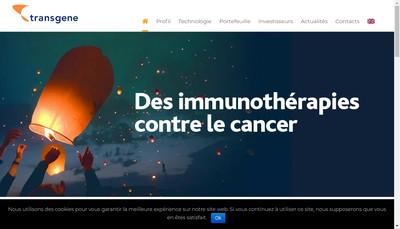 Site internet de Transgene