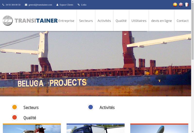 Capture d'écran du site de Transitainer France