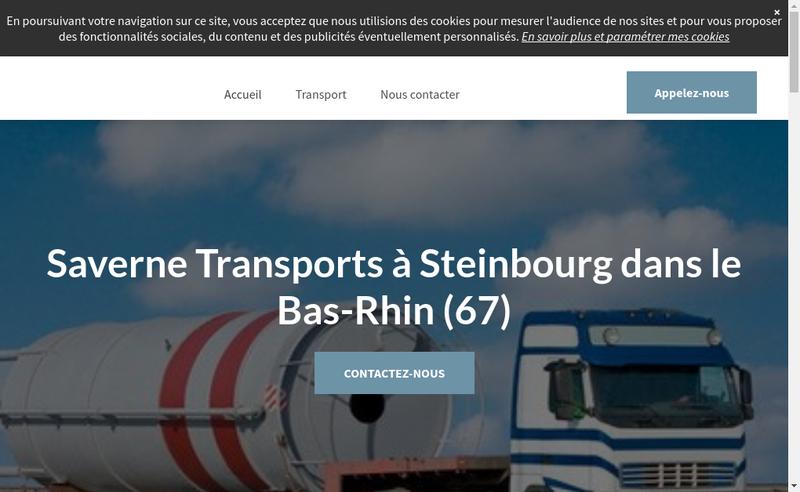 Capture d'écran du site de Saverne Transports