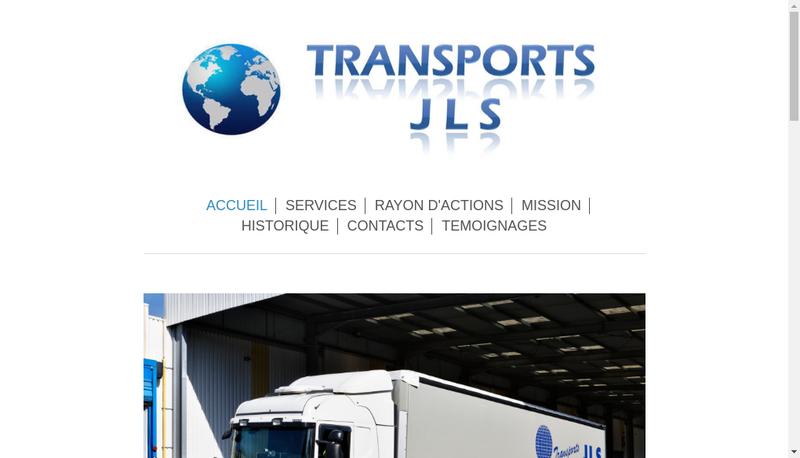 Capture d'écran du site de Transports JLS