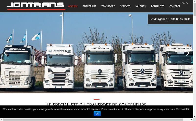Capture d'écran du site de Jontrans
