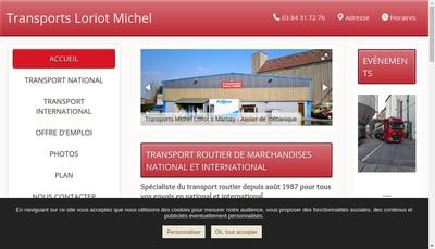 Site internet de Transports Michel Loriot