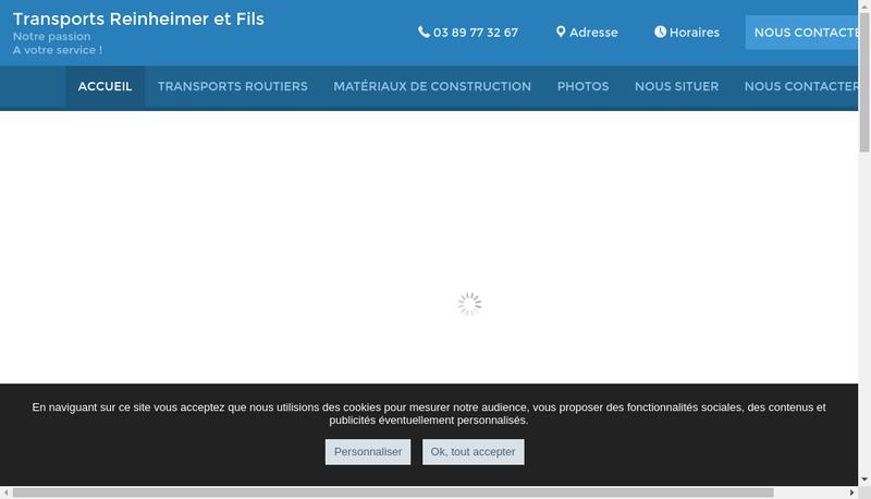 Capture d'écran du site de Transports Reinheimer et Fils