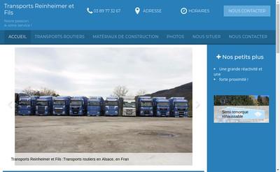Site internet de Transports Reinheimer et Fils