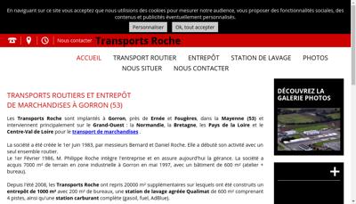 Capture d'écran du site de Str Ste Transports Roche