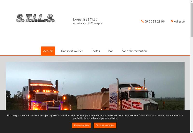 Capture d'écran du site de STILS