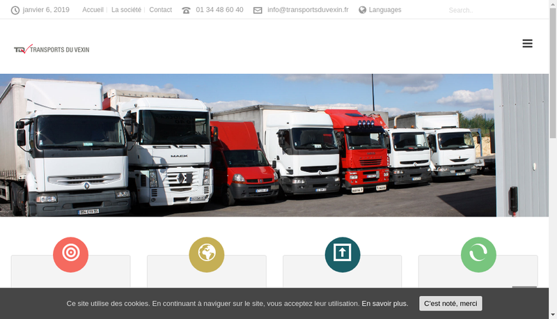 Capture d'écran du site de Transports du Vexin