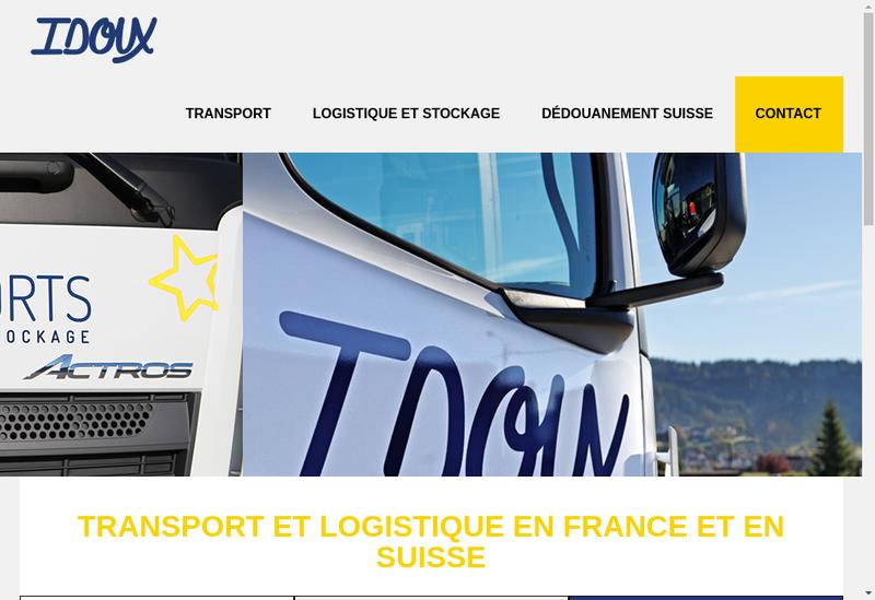 Capture d'écran du site de Transports Idoux Groupe Clot