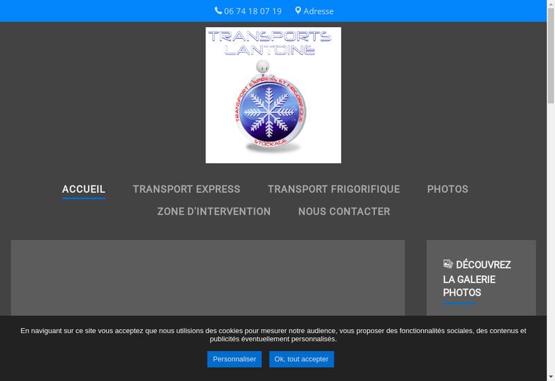 Capture d'écran du site de SARL Lantoine