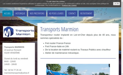 Site internet de Transports Marmion