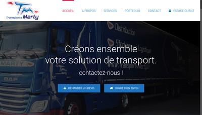 Site internet de Transports Marty