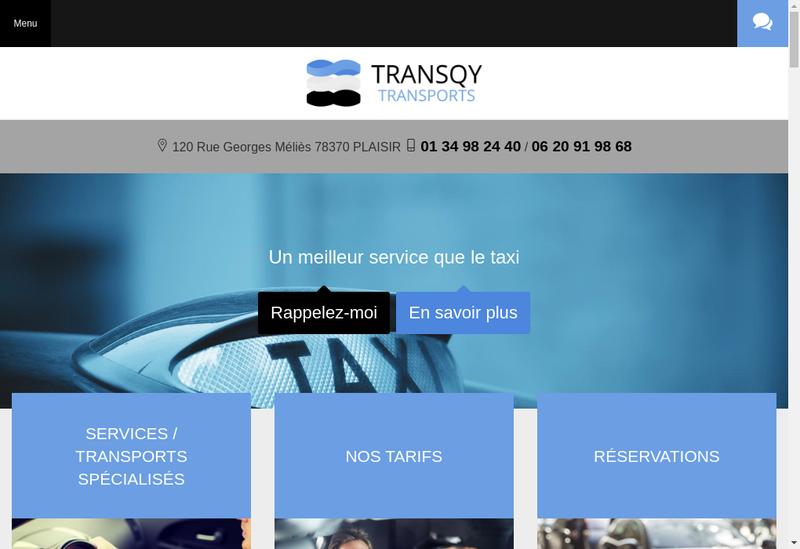 Capture d'écran du site de Transqy Transports