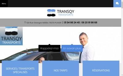 Site internet de Transqy Transports