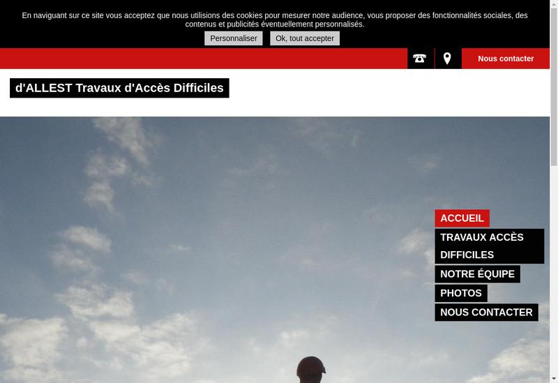 Capture d'écran du site de D'Allest
