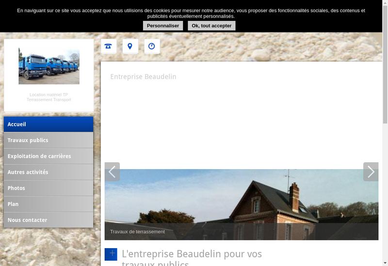 Capture d'écran du site de Entreprise Beaudelin SARL