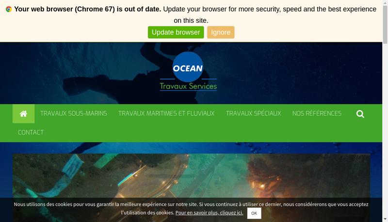 Capture d'écran du site de OTS