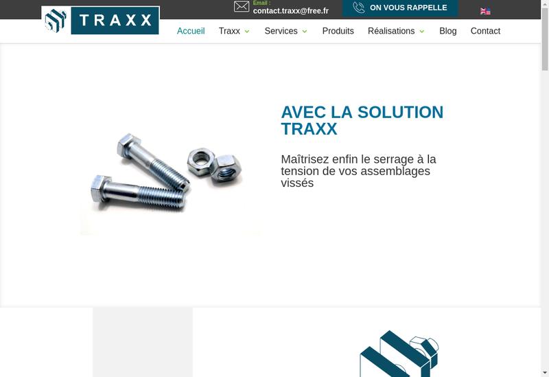 Capture d'écran du site de Traxx