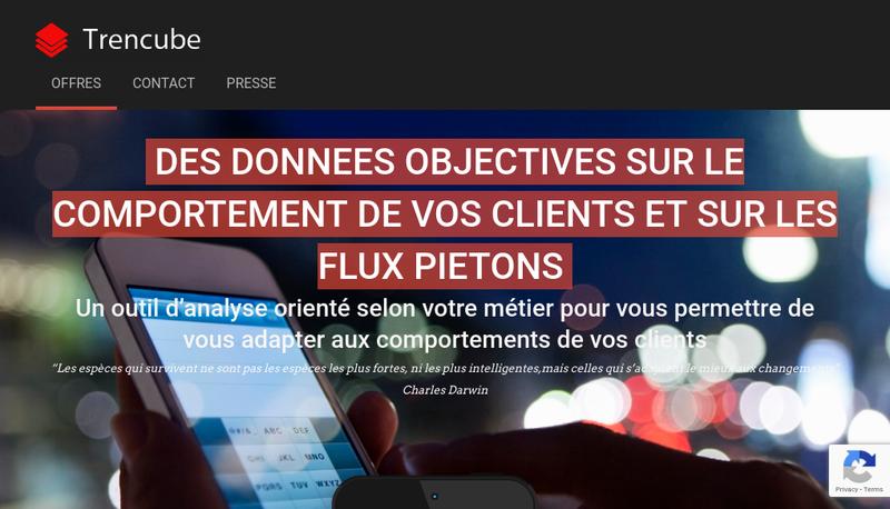 Capture d'écran du site de Trencube