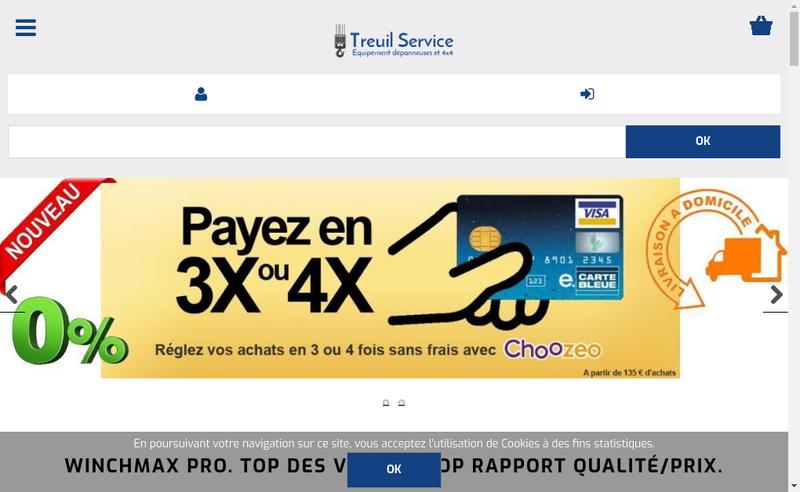 Capture d'écran du site de Treuil Service
