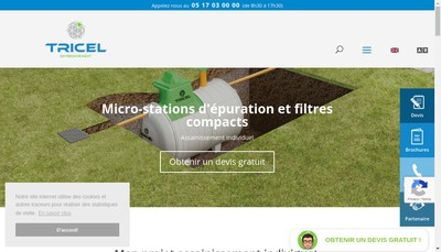 Site internet de Tricel Poitiers