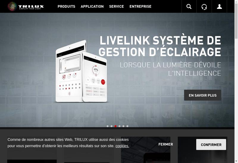 Capture d'écran du site de Trilux France SAS