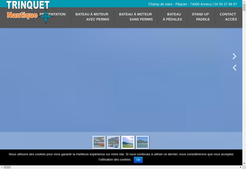 Capture d'écran du site de Trinquet Nautique-Le Savoy