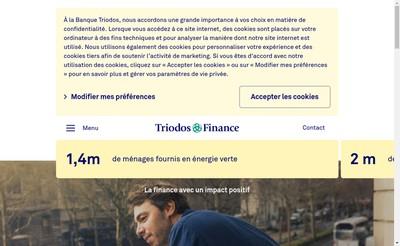 Site internet de Triodos Finance BV