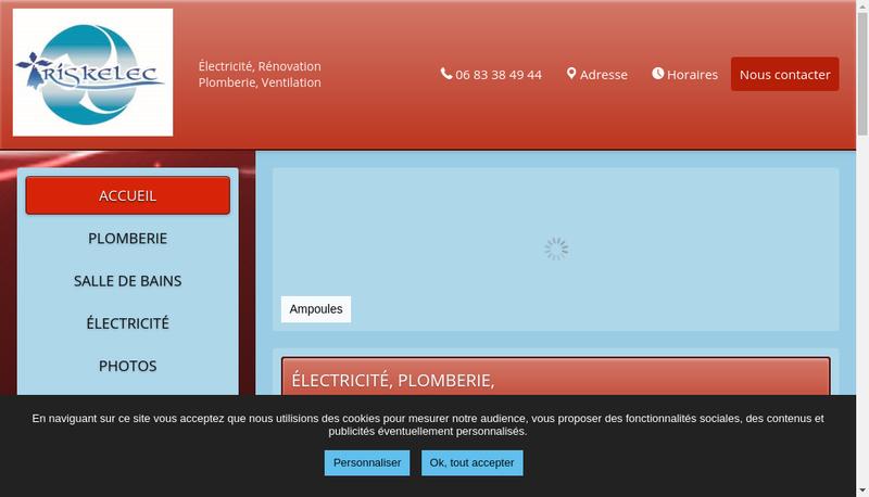 Capture d'écran du site de Triskelec