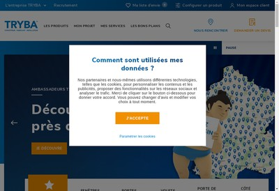 Site internet de Tryba Mayenne SAS