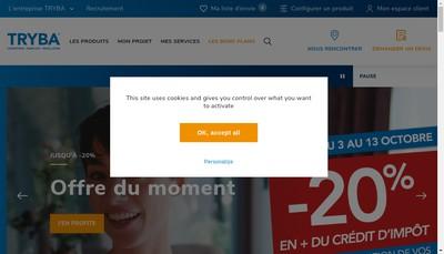 Site internet de Tryba Fenetres et Portes