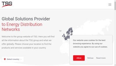 Site internet de Tokheim Services France