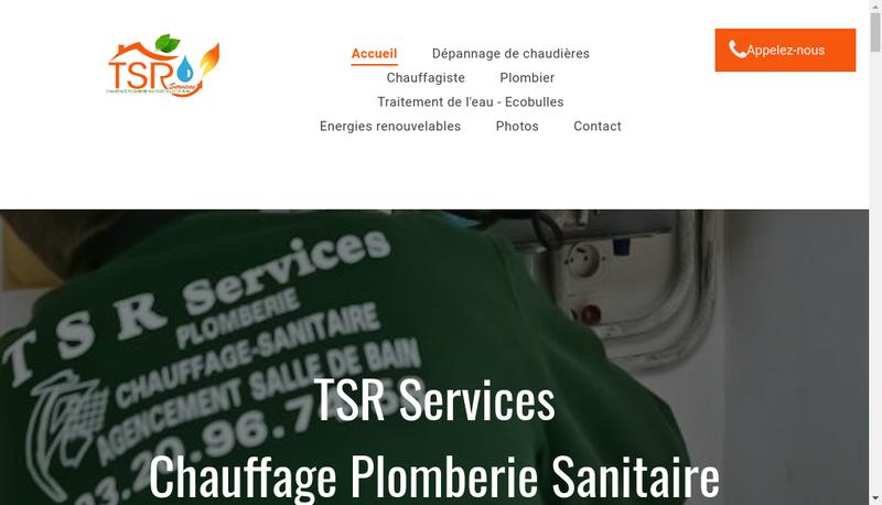 Capture d'écran du site de Tsr Services