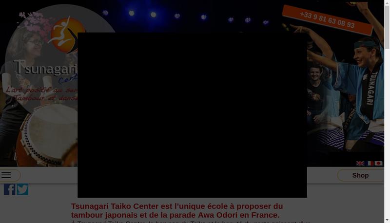 Capture d'écran du site de Tsunagari Taiko Center