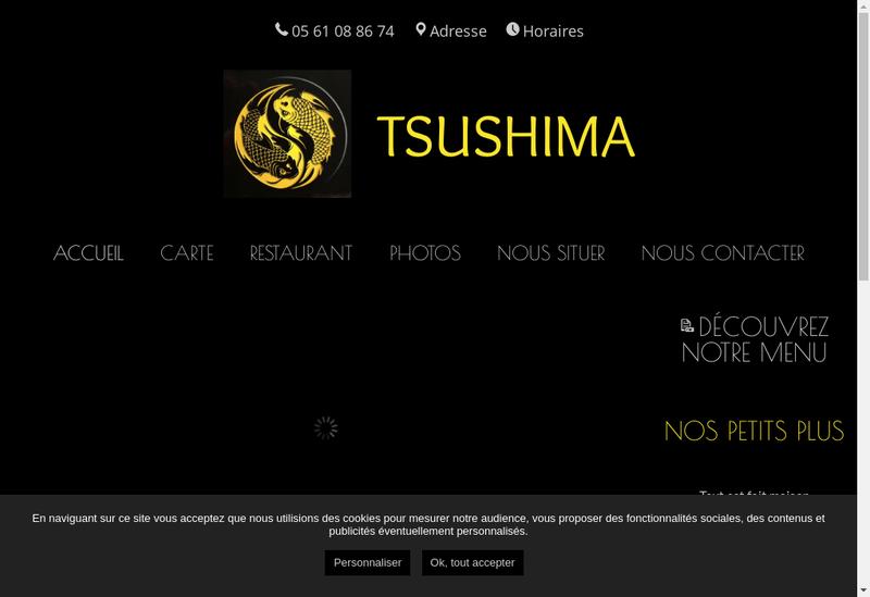 Capture d'écran du site de Tsushima