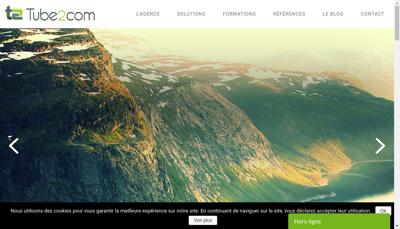 Capture d'écran du site de Tube2Com