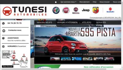 Capture d'écran du site de Fiat, Fiat Professionnal, Alfa Romeo, Lancia, Jeep