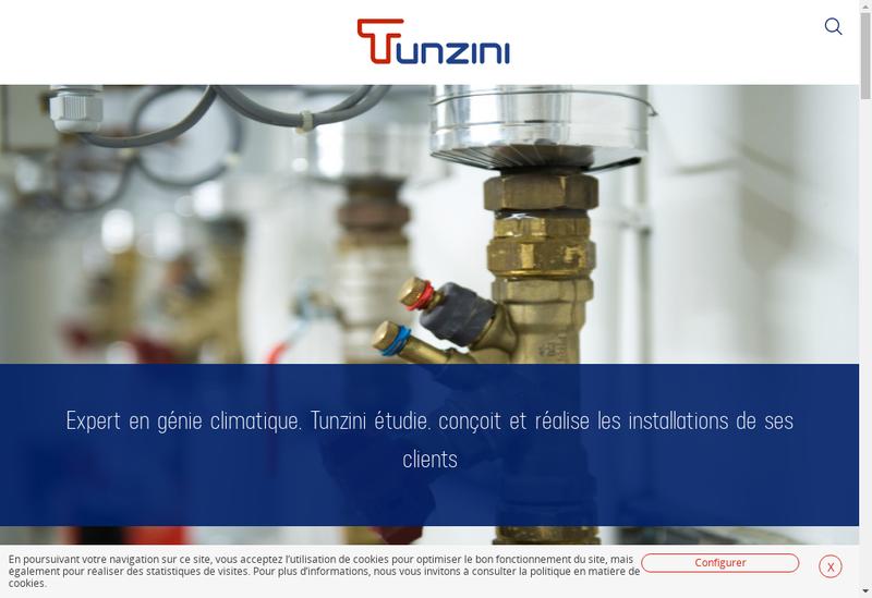 Capture d'écran du site de Tunzini Limoges