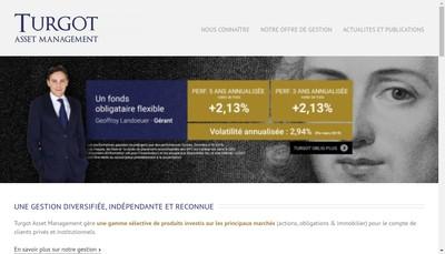 Site internet de Turgot Asset Management