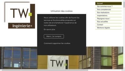 Site internet de Tw Ingenierie