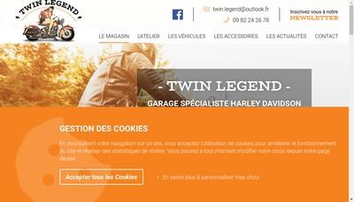 Site internet de Twin Legend