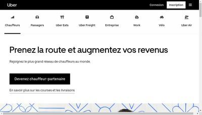 Site internet de Uber