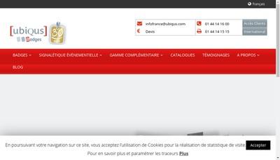 Site internet de Ubiqus Badges