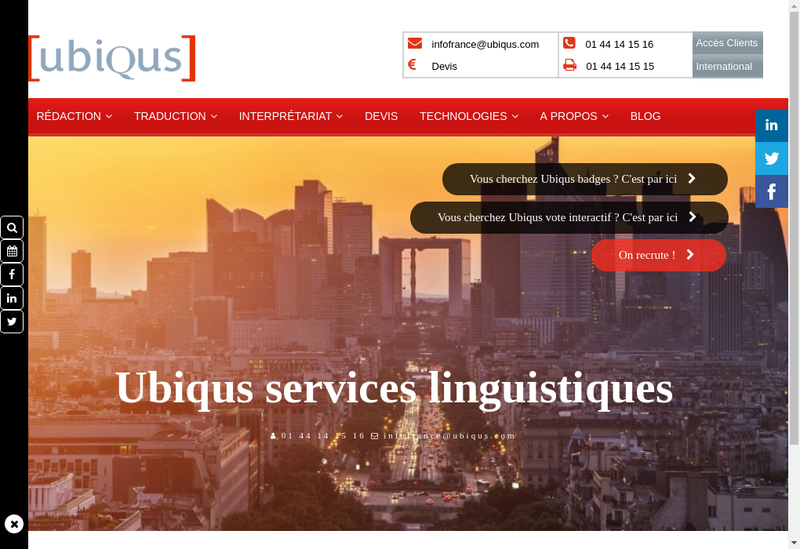Capture d'écran du site de Ajout du Nom Cial Biat Sonovision Itep