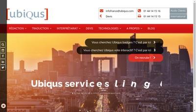 Site internet de Hors Ligne Ubiqus Reporting Ubiqus News