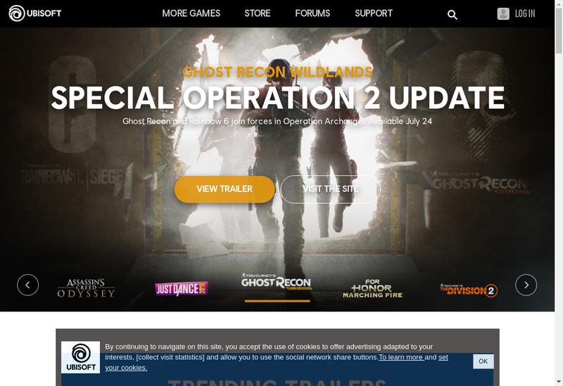 Capture d'écran du site de Ubisoft Annecy